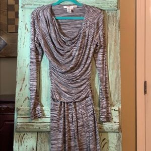 Beautiful brown mingled stretch knit size medium
